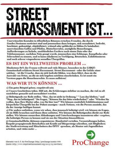 WenDo als Schutz gegen Street Harassment